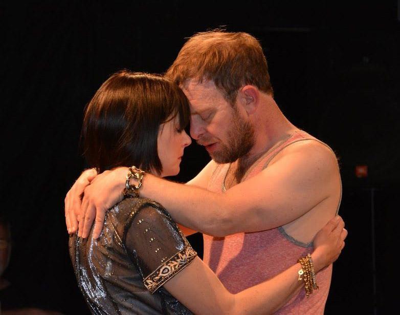 Cleopatra (Kristin Skaggs) and Antony (J. C. Luxton)