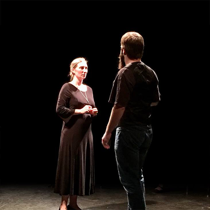 Stephanie Burrough and Andy Curtiss in All's Well