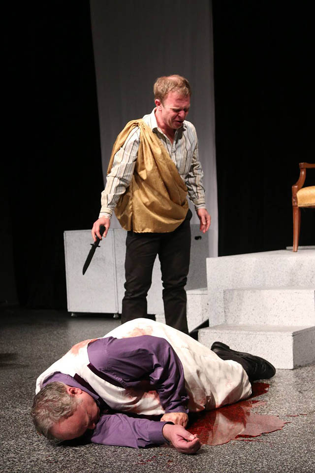 JC Luxton and John Turner in Julius Caesar
