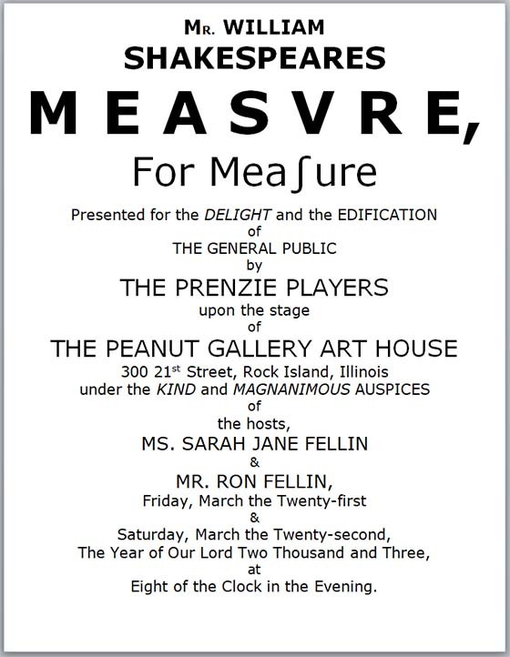 Measure for Measure program