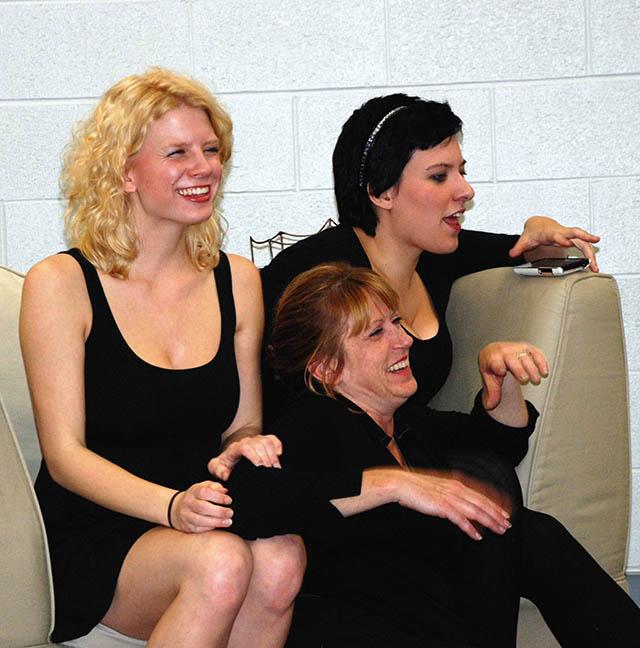 Maggie Woolley, Angela Rathman and Catie Osborn