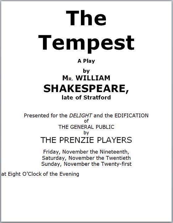 Tempest program