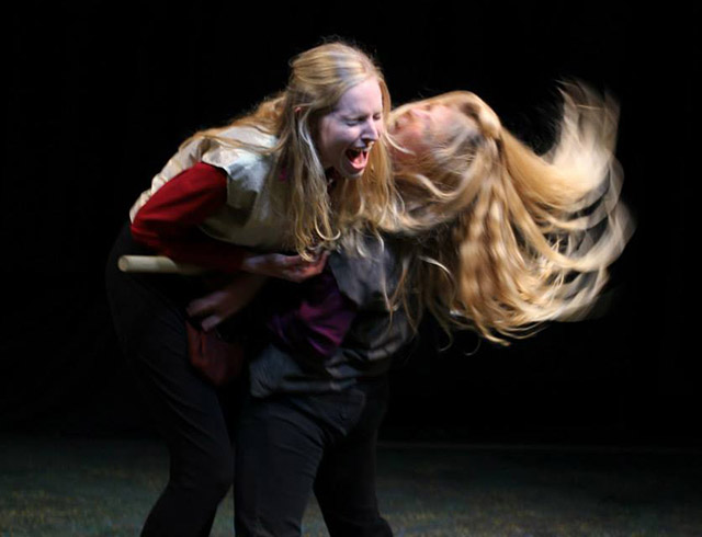 Sarah Ade Wallace and Maggie Woolley in Lear