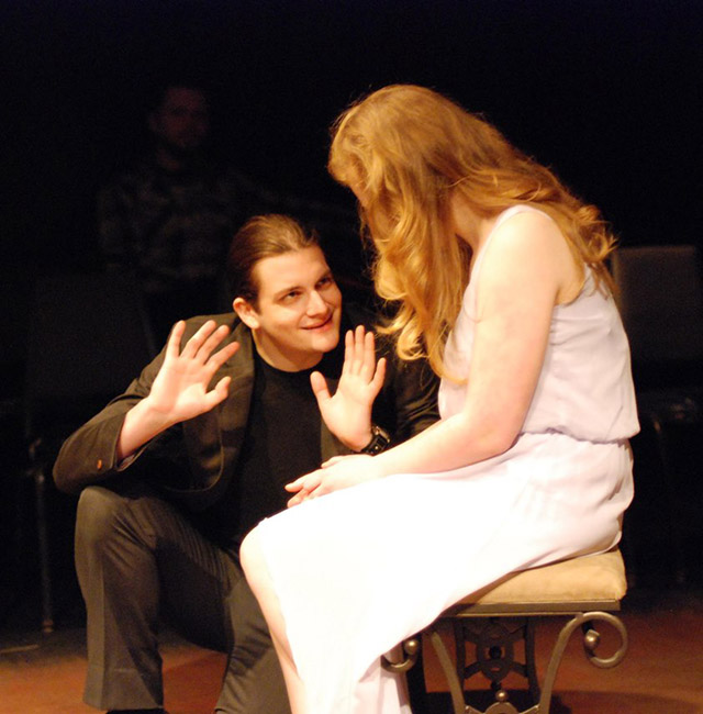 Grecco Bray (Haemon) and Abby VanGerpen (Ismene)