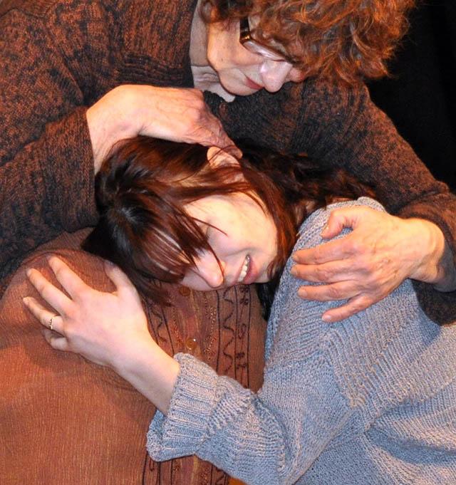 Dee Canfield (Nurse) and Gini Atwell (Antigone)