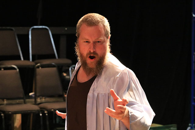 Aaron Sullivan in Caucasian Chalk Circle.