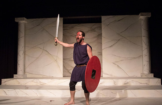 Jarrod DeRooi as Coriolanus.
