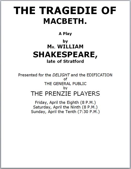 Macbeth program