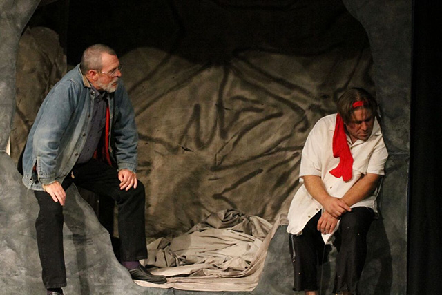 Michael Carron and Matt Moody in Timon of Athens