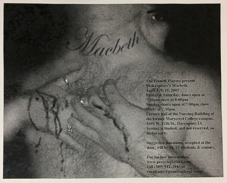 Print ad for Macbeth